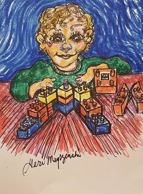 Lego Drawing - Happy Mothers Day by Geraldine Myszenski