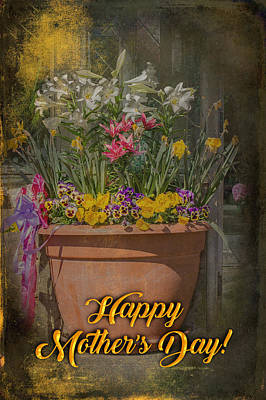 Happy Mother's Day Planter Greeting Art Print by Mother Nature