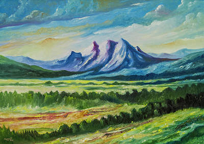 Painting - Happy Mountain by Anthony Mwangi