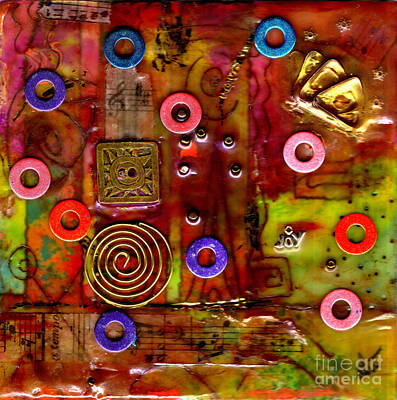 Mixed Media - Happy Music by Angela L Walker