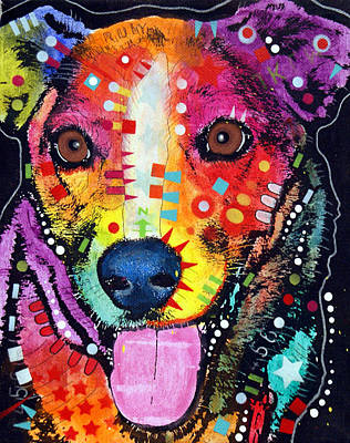 Mutt Painting - Happy Mutt by Dean Russo