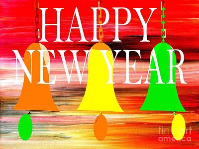 Joy Mixed Media - Happy New Year 10 by Patrick J Murphy