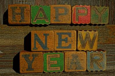 Photograph - Happy New Year 2 by Steven Clipperton