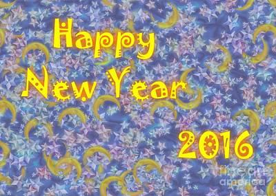 Happy New Year 2016 Art Print