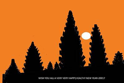 Digital Art - Happy New Year-3 by Anand Swaroop Manchiraju