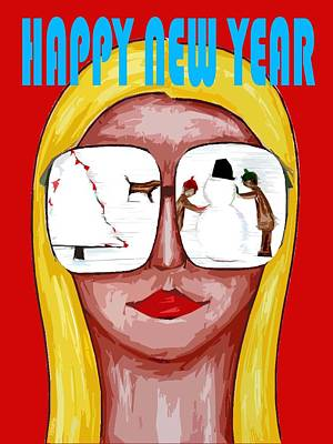 Happy New Year 51 Art Print by Patrick J Murphy