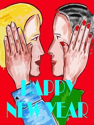 Happy New Year Mixed Media - Happy New Year 69 by Patrick J Murphy
