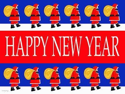 Happy New Year 7 Art Print by Patrick J Murphy