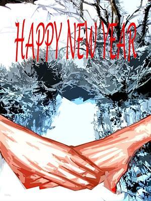 Happy New Year Mixed Media - Happy New Year 77 by Patrick J Murphy