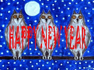 Happy New Year Mixed Media - Happy New Year 80 by Patrick J Murphy