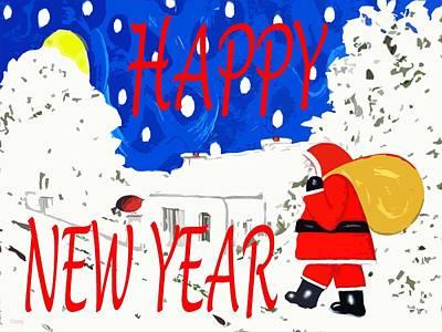 Happy New Year Mixed Media - Happy New Year 82 by Patrick J Murphy