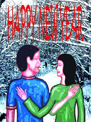 Happy New Year Mixed Media - Happy New Year 85 by Patrick J Murphy