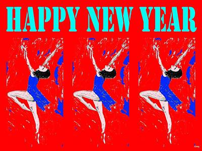 Ballet Dancers Mixed Media - Happy New Year 94 by Patrick J Murphy