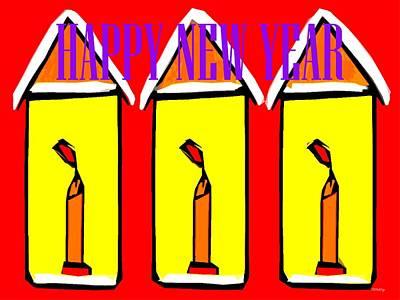 Happy New Year Mixed Media - Happy New Year 96 by Patrick J Murphy