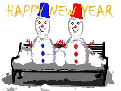 Happy New Year Mixed Media - Happy New Year 98 by Patrick J Murphy