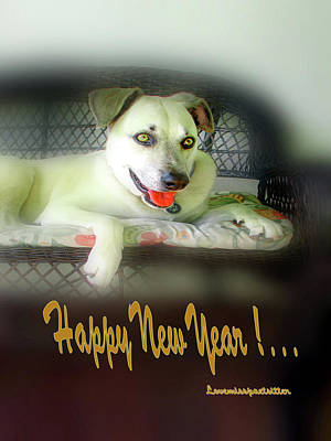 Digital Art - Happy New Year Art 2 by Miss Pet Sitter