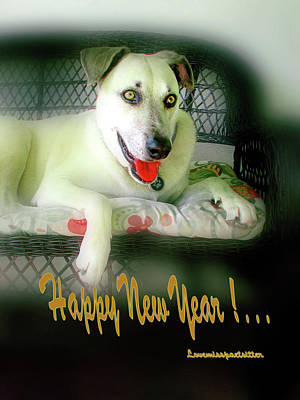 Digital Art - Happy New Year Art  by Miss Pet Sitter