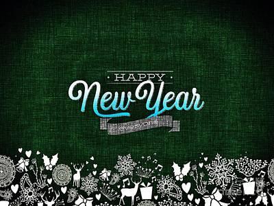 Digital Art - Happy New Year by Erika H