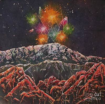 Mixed Media - Happy New Year From America's Mountain by Carol Losinski Naylor