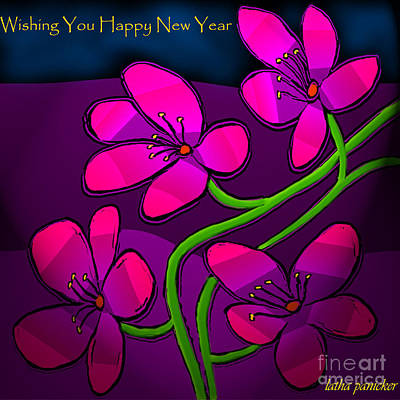 Digital Art - Happy New Year by Latha Gokuldas Panicker