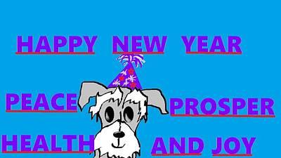 Happy New Year Art Print by Linda Velasquez