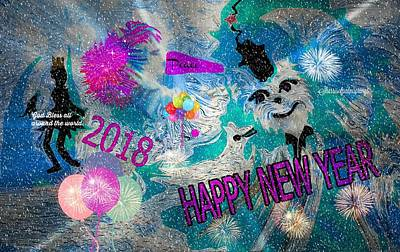 Digital Art - Happy New Year  by Sherri's - Of Palm Springs
