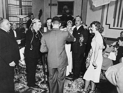 Gathering Photograph - Happy New Year's Eve Party by Underwood Archives