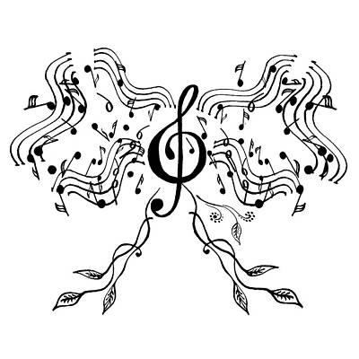 Painting - Happy Notes And Fun Music Iv by Irina Sztukowski