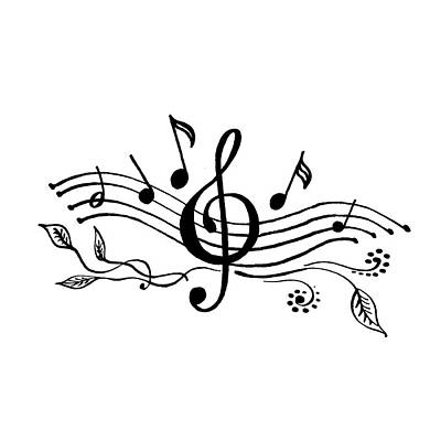 Painting - Happy Notes And Fun Music V by Irina Sztukowski