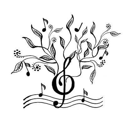 Painting - Happy Notes And Fun Music Vi by Irina Sztukowski
