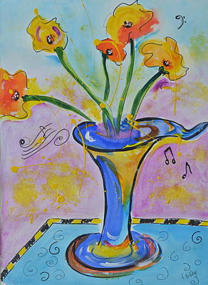 Painting - Happy Notes by Teresa Tilley