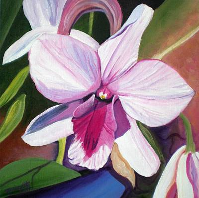 Floral Painting - Happy Orchid by Marionette Taboniar