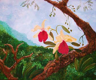 Painting - Happy Orchids by Alanna Hug-McAnnally