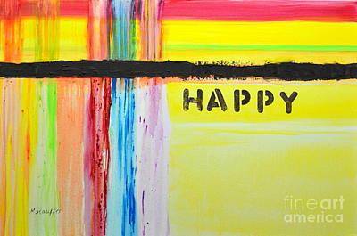 Happy Painting Art Print
