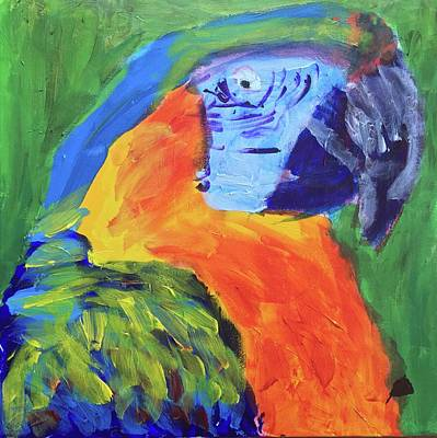 Painting - Happy Parrots by Donald J Ryker III