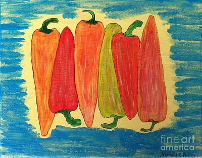 Painting - Happy Peppers by Nancy Pace