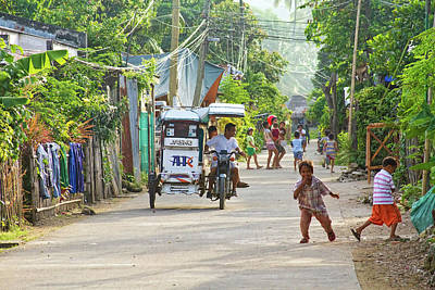 Happy Philippine Street Scene Art Print