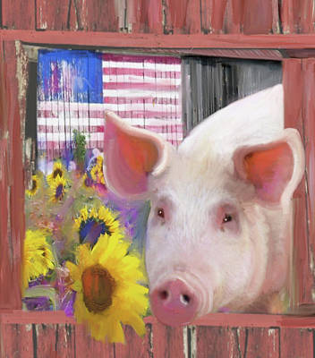 Photograph - Happy Pig  by Julianne Ososke