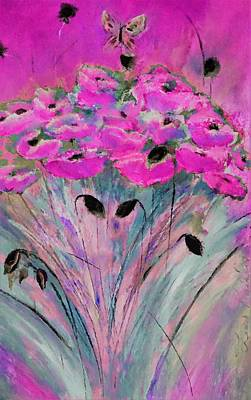 Digital Art - Happy Pink Poppies By Lisa Kaiser by Lisa Kaiser