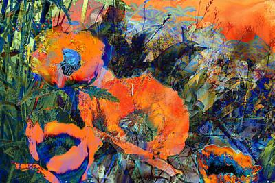Happy Poppies Art Print by Anne Weirich