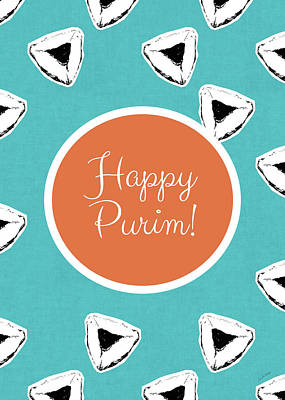 Purim Mixed Media - Happy Purim Hamentashen- Art By Linda Woods by Linda Woods