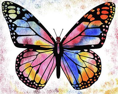 Painting - Happy Rainbow Butterfly  by Irina Sztukowski