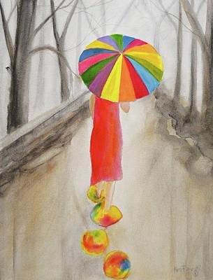 Happy Rainy Day Original by Ken Figurski