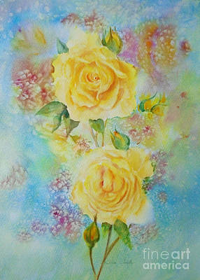 Painting - Happy Roses by Beatrice Cloake