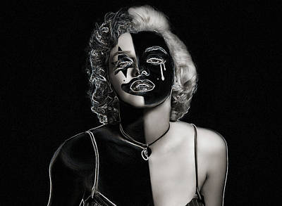 Happy Sad Marilyn Art Print