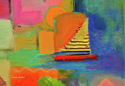 Mixed Media - Happy Sailing by Haleh Mahbod