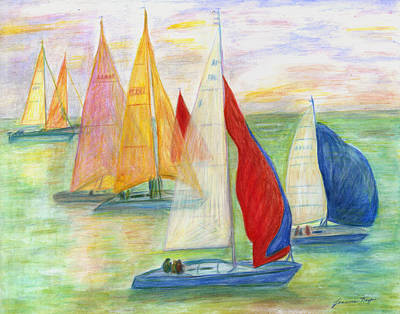 Happy Sailing Art Print