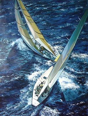 Classic Marine Art Painting - Happy Sailing by Lucia Amitra