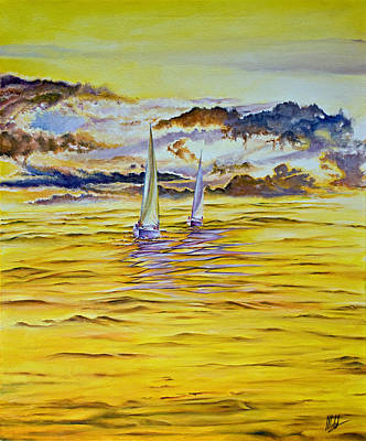 Painting - Happy Sailing by Michel Angelo Rossi