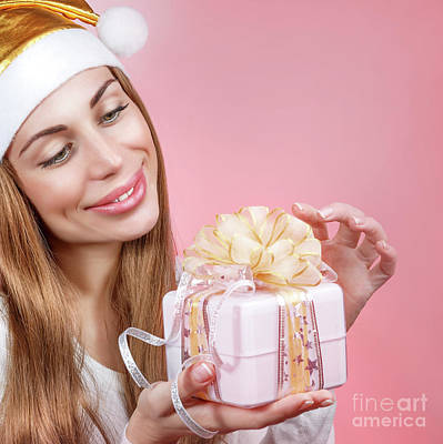 Photograph - Happy Santa Girl by Anna Om